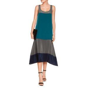 Bailey 44 Silk Colorblock Midi Dress